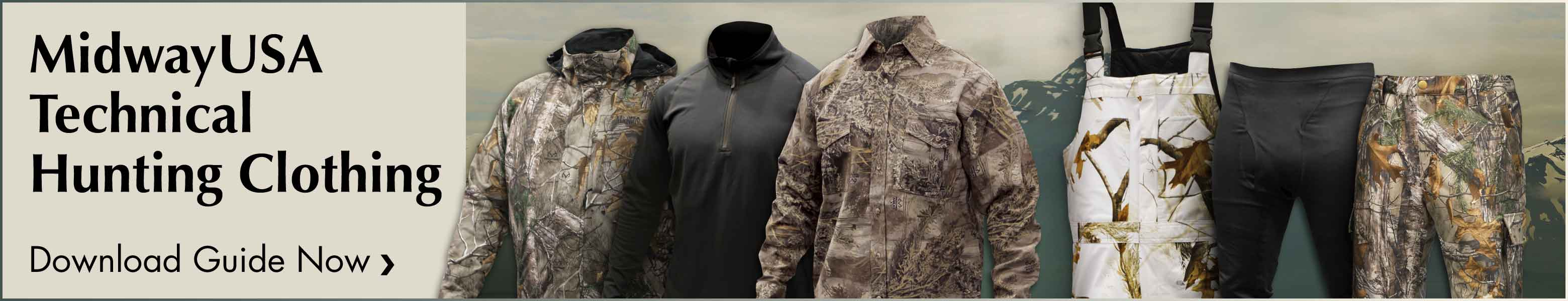 Download the MidwayUSA Technical Hunting Clothing Guide Now
