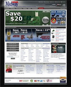 New Homepage for MidwayUSA.com