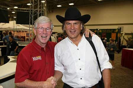 MidwayUSA founder Larry Potterfield with Jim Shockey at the 2012 DSC Convention (photo courtesy of DSC)
