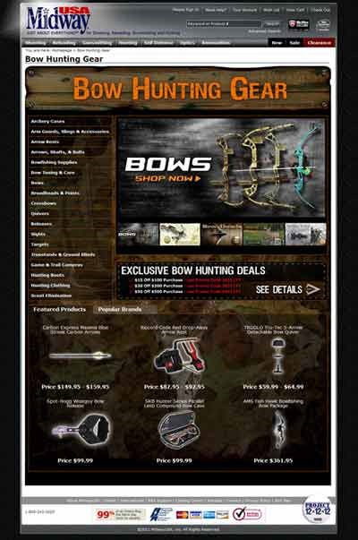 MidwayUSA Bow Hunting Gear Web Page