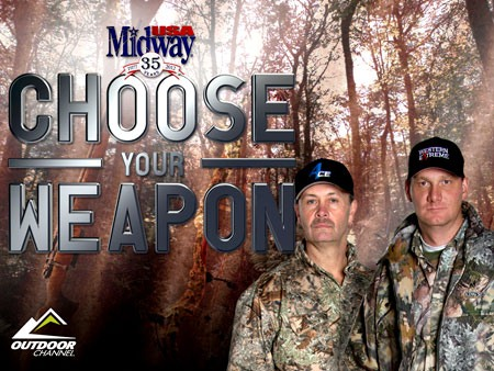MidwayUSA&#39;s Choose Your Weapon hosts Ray Bunney (Left) and Jim Burnworth