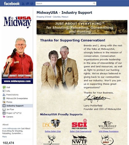 MidwayUSA's Facebook Page