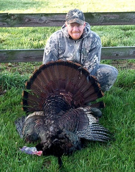 Michael Jennings pictured with his 2012 Missouri Spring Turkey