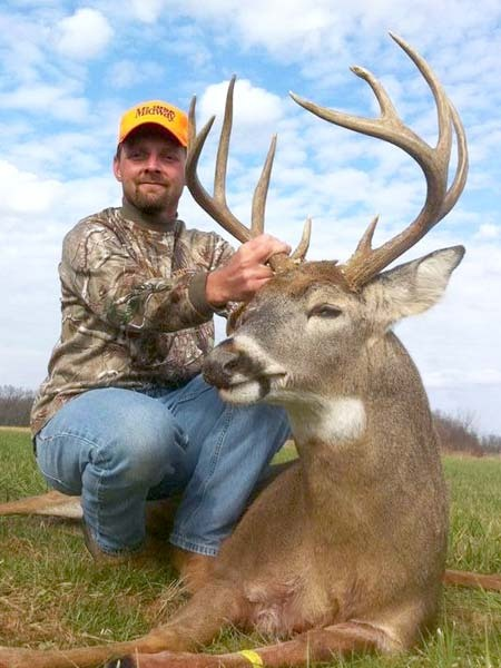 Nathan Hill with a Macon County, Missouri Whitetail Deer taken with a Remington 721 in 270 Winchester