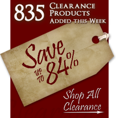 835 Products added to Clearance this week - Save up to 84%