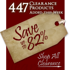 447 Products added to Clearance this week - Save up to 82%