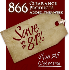 866 Products added to Clearance this week - Save up to 81%