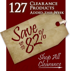 127 Products added to Clearance this week - Save up to 82%
