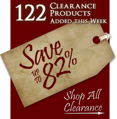 122 Products added to Clearance this week - Save up to 82%
