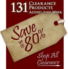 131 Products added to Clearance this week - Save up to 80%