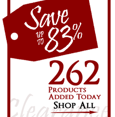 262 Products added to Clearance this week - Save up to 83%