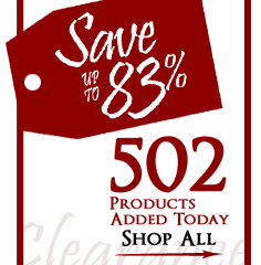 502 Products added to Clearance this week - Save up to 83%