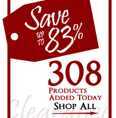 308 Products added to Clearance this week - Save up to 83%