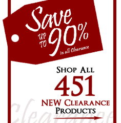 451 Products added to Clearance this week - Save up to 90%