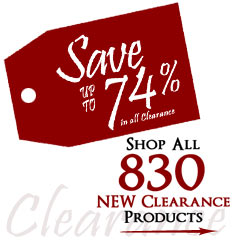 830 Products added to Clearance this week - Save up to 74%