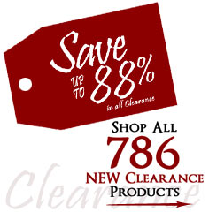 786 Products added to Clearance this week - Save up to 88%