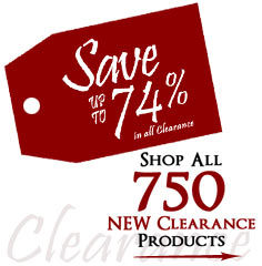 750 Products added to Clearance this week - Save up to 74%