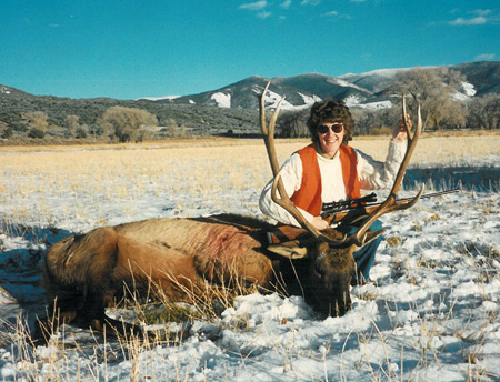 Brenda with her first elk. She used a Remington 700 in 30-06.