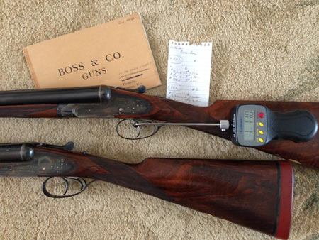 A pair of English shotguns should be the gold standard for trigger pulls.  These were made by Thomas Boss.