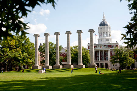 The University of Missouri – Columbia is a big school, and I remember being a bit intimidated by it. (Photo courtesy of The University of Missouri – Columbia.)