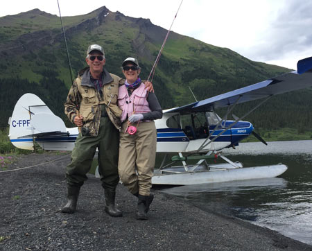 "Every morning we flew to a new fishing spot; that's the reason it's called a ""Fly-out"" fishing lodge."