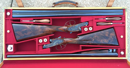 "The epitome of ""best guns"" is a matched pair of Purdey side by sides, such as these; two guns, made entirely by hand to be as close to identical twins as possible."