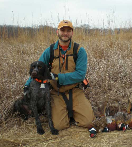 Adam Augustine after a Nebraska pheasant hunt