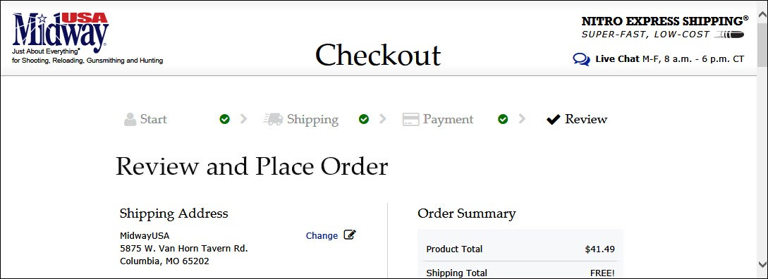 New, Improved Online Checkout Process