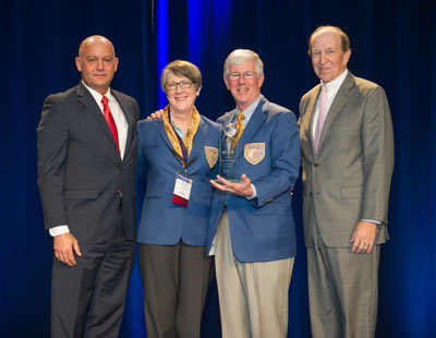 Al Faber, President/CEO of the Baldrige Foundation, Larry and Brenda Potterfield, George Benson, Chair of the Board of Directors of the Baldrige Foundation