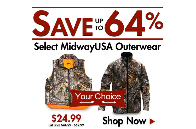 Save up to 64% on Select MidwayUSA Jackets