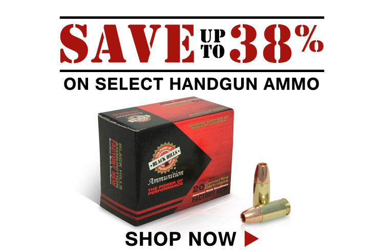 Save on Black Hills 9mm Luger +P Ammo and Fiocchi 40 S&W Ammo
