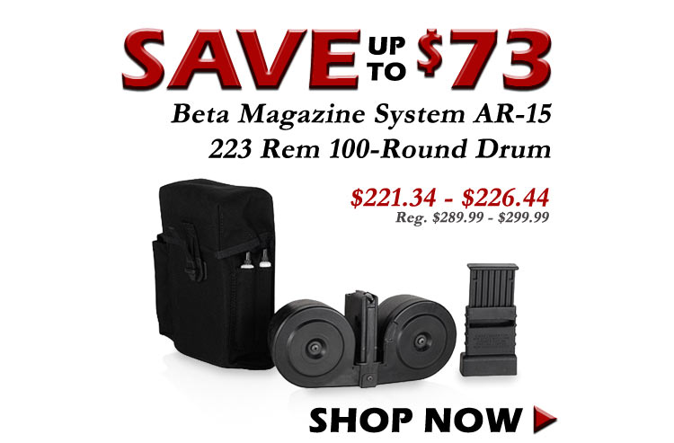 Save up to $73 on AR-15 223 Rem 100 Rnd Drums