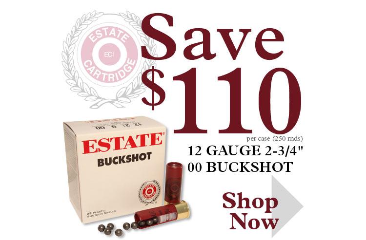 Save $110 on a Case of 12 Ga 00 Buckshot