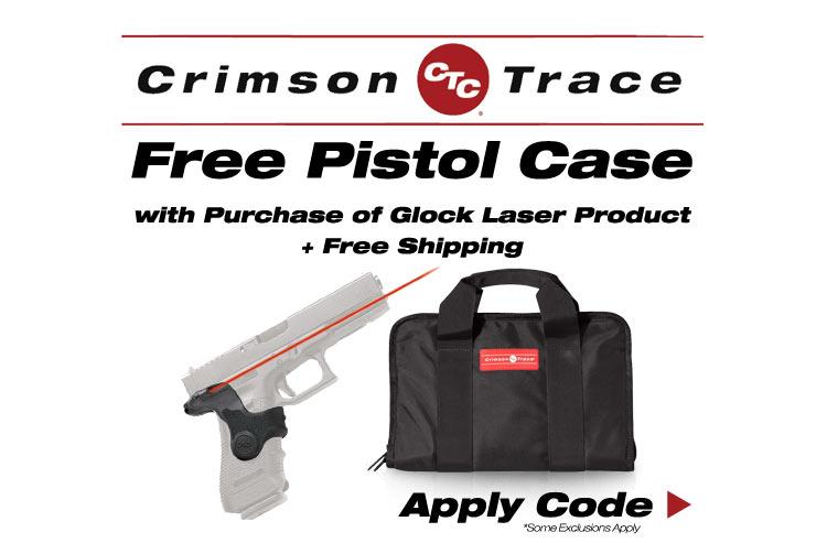 Crimson Trace Glock Laser Product + Free Pistol Case