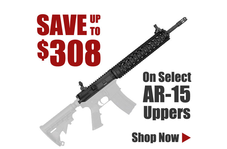 Save up to $308 on Select AR-15 Uppers