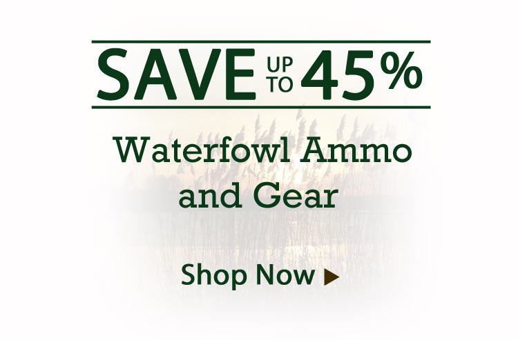 Save Big on Waterfowl Ammo and Gear