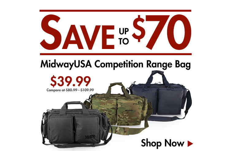 Save up to $70 on MidwayUSA Range Bags
