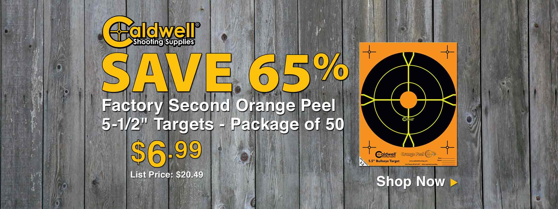 Save 65% on Caldwell Factory Second Orange Peel Targets