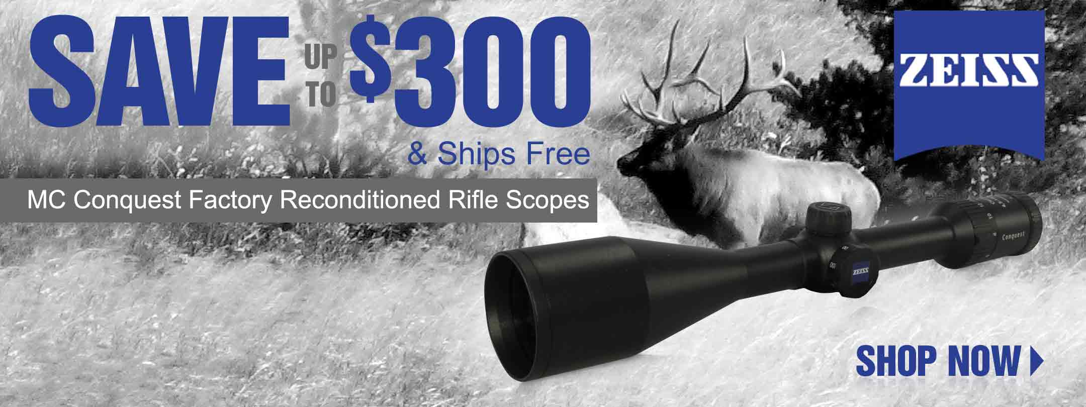 Save up to 30% on Zeiss MC Factory Reconditioned Rifle Scopes & Get Free Shipping