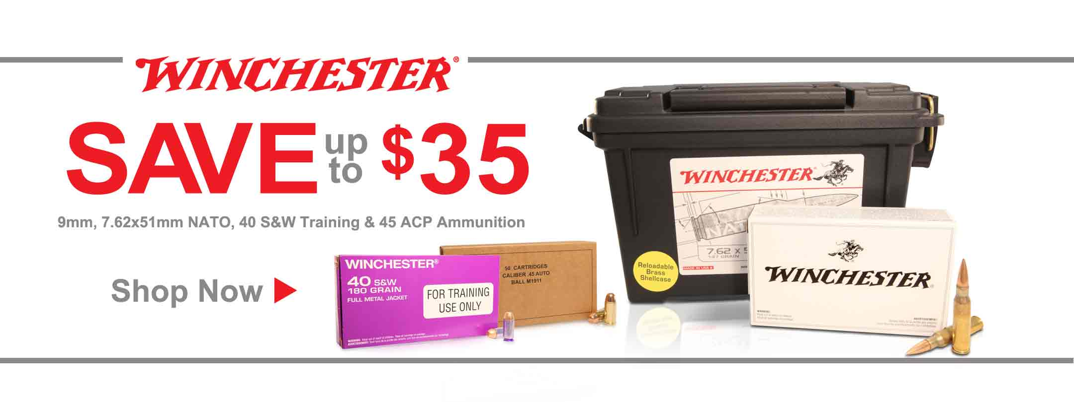 Save up to $35 on Select Winchester Ammo