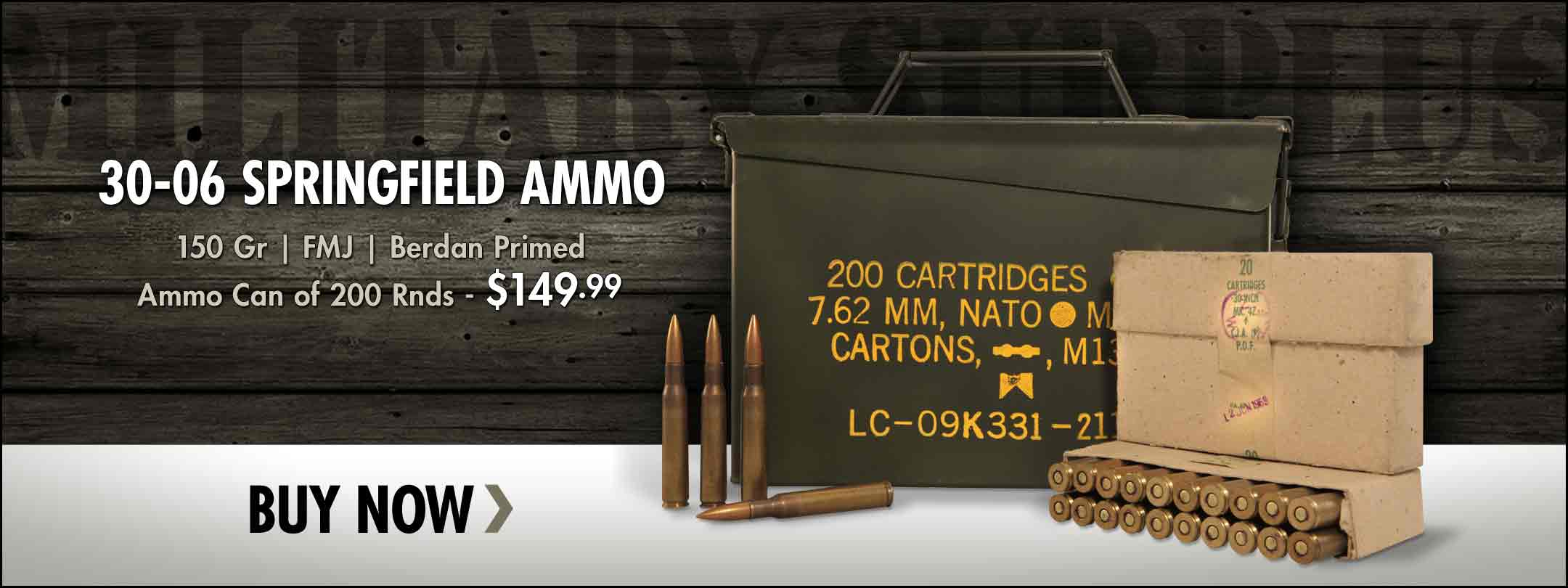 Military Surplus 30-06 Ammo