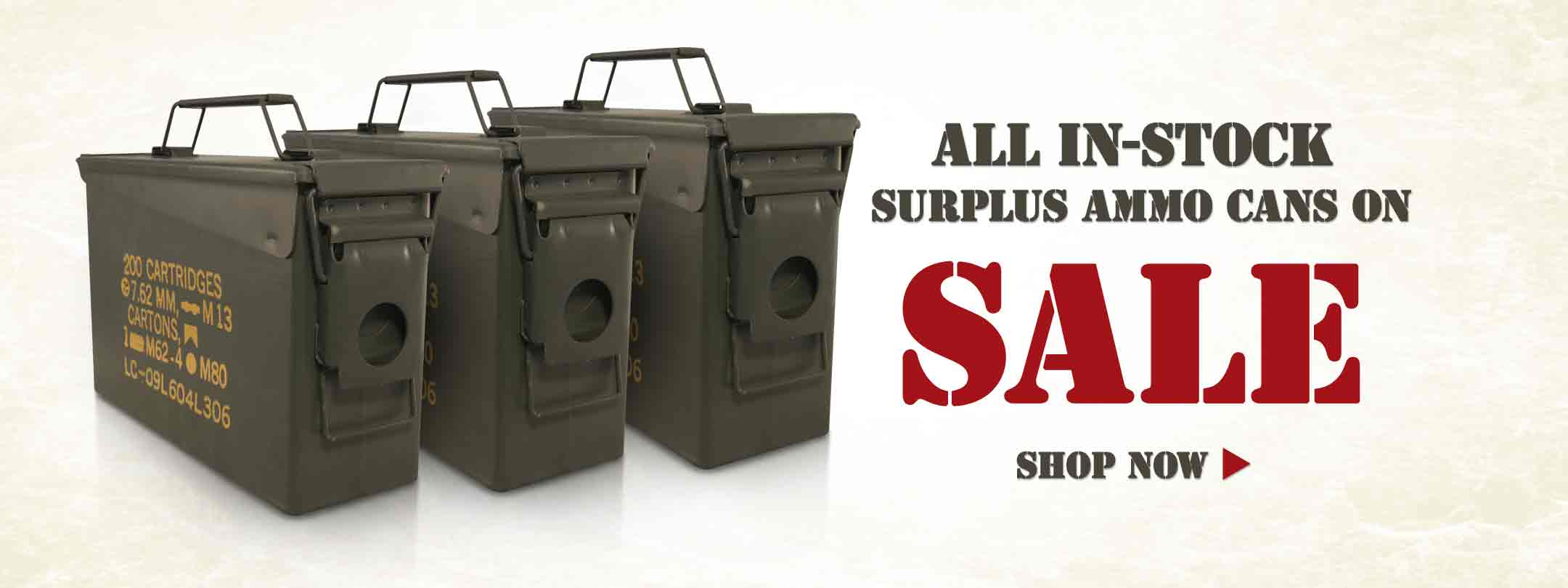 All In-Stock Surplus Ammo Cans on Sale