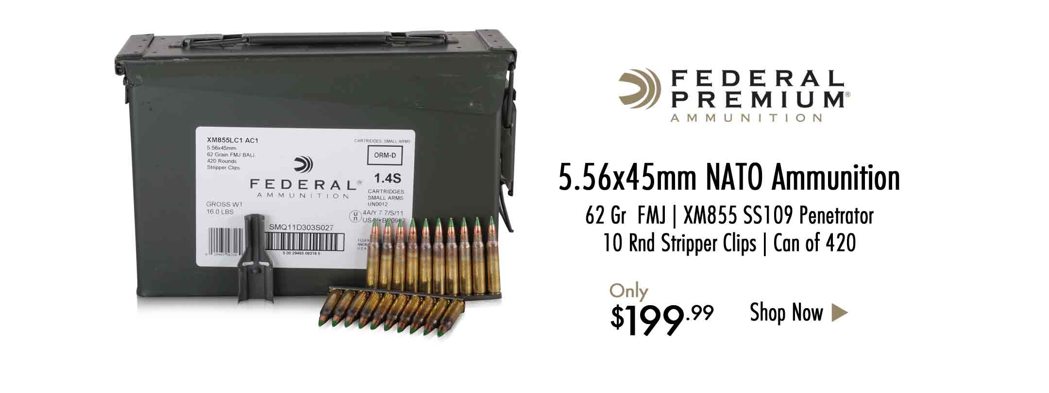 Federal 5.56x45mm NATO Ammo in Stripper Clips