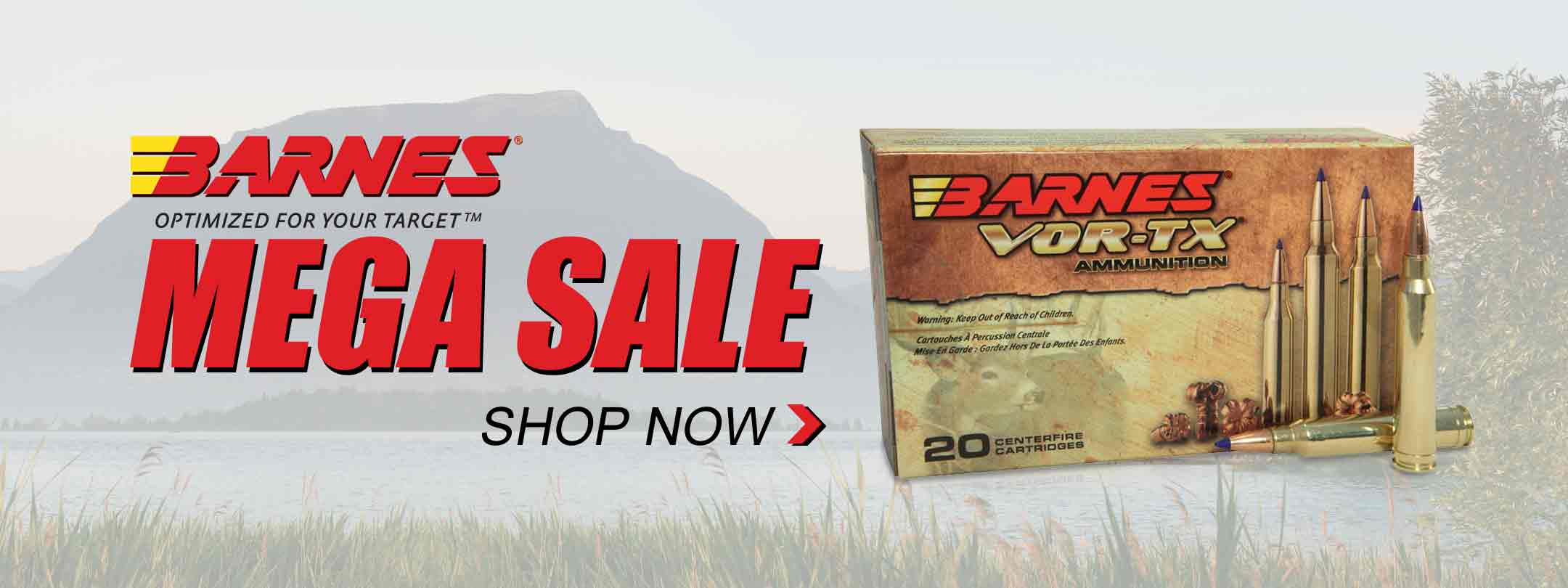 Barnes Mega Sale! Save on Bullets and Ammo