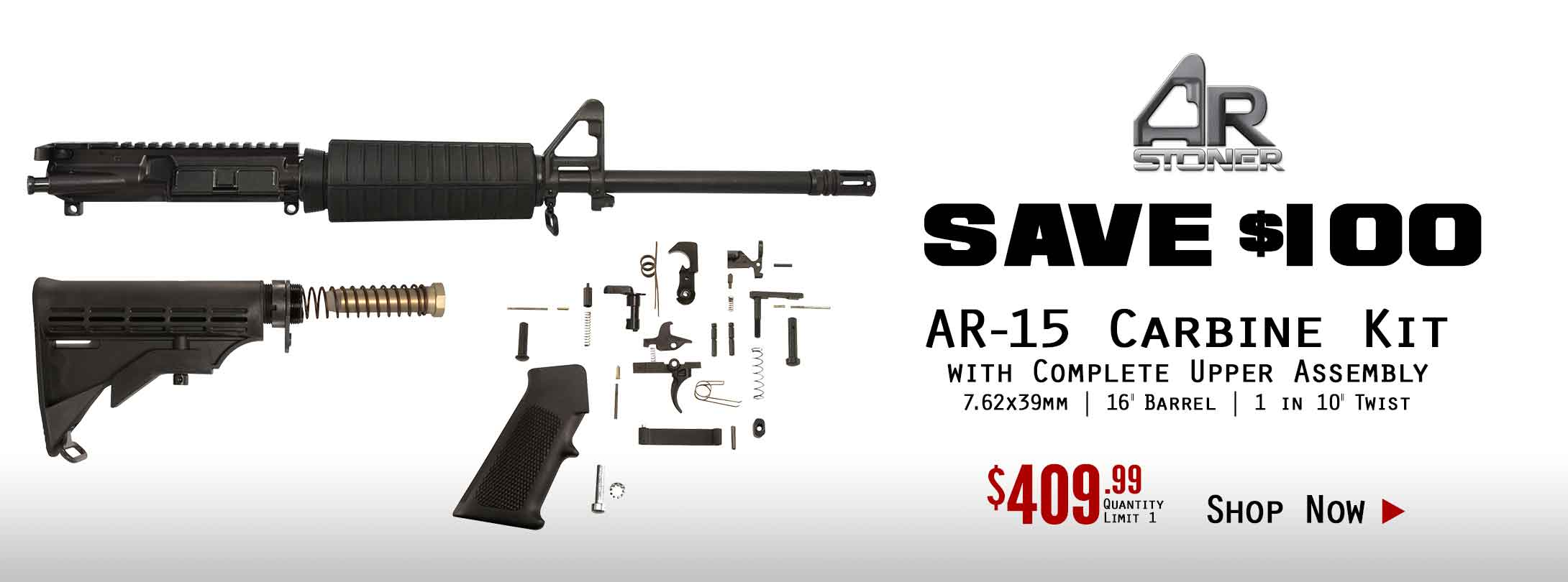 48 Hr Sale - Save $100 on AR-Stoner 7.62x39mm Carbine Kit