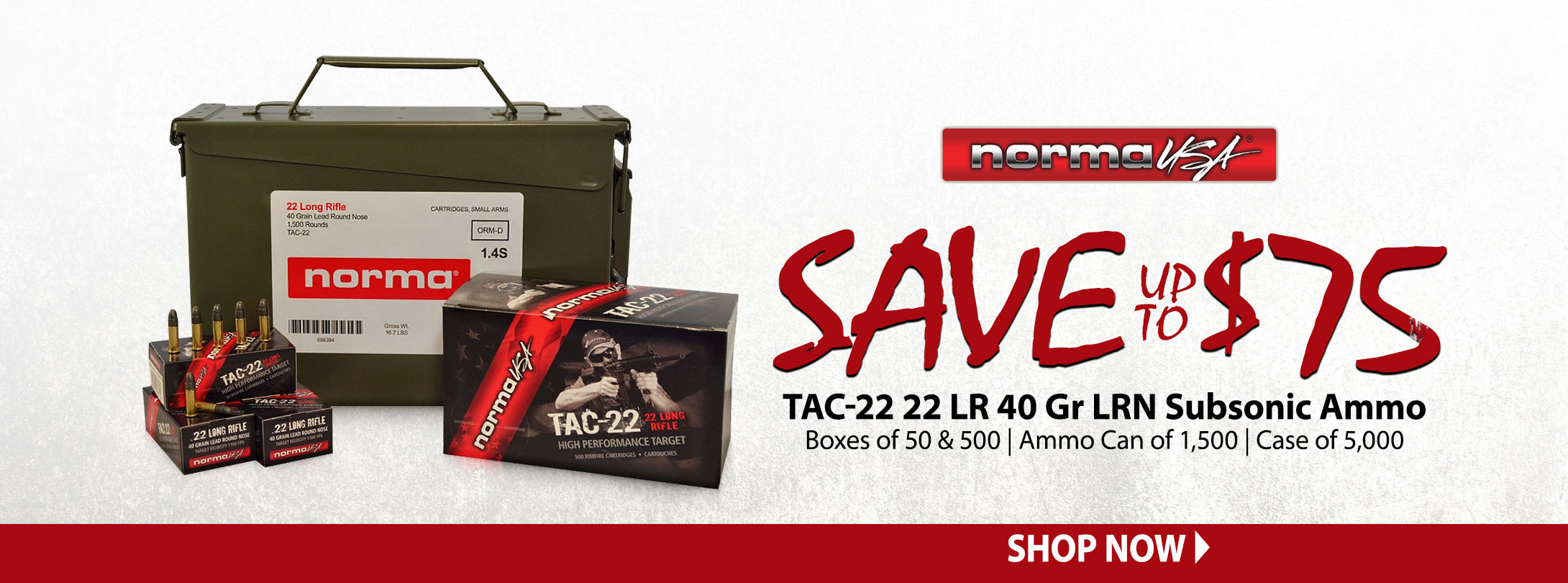 48 Hr Sale - Save Up to $75 On Norma TAC-22