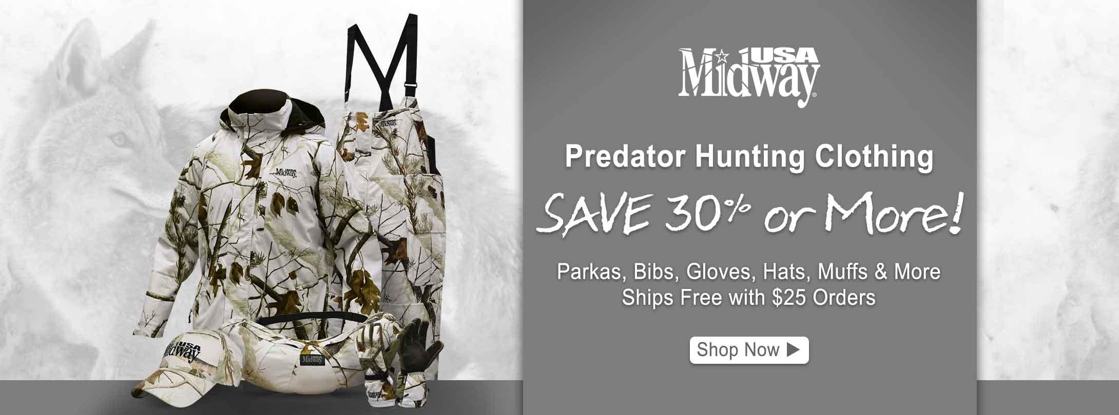 Save 30% or More on MidwayUSA Predator Hunting Clothing