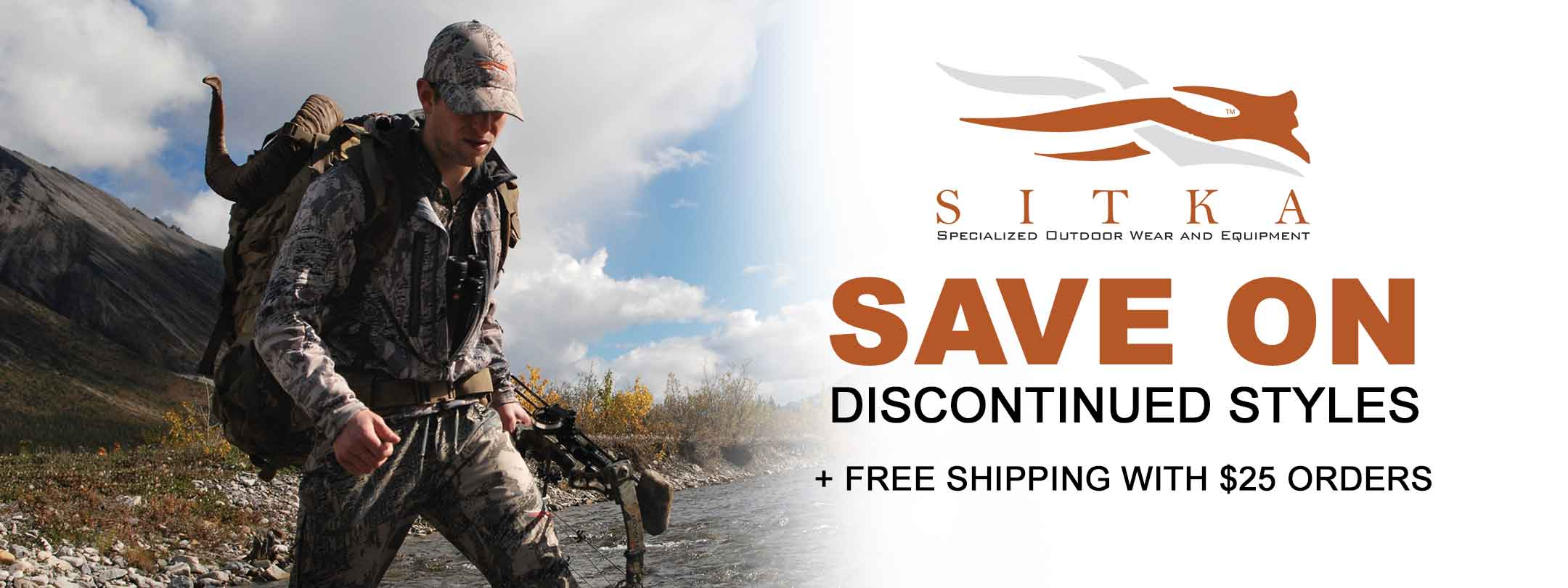 Save on Sitka Discontinued Styles + Free Shipping with $25 Orders