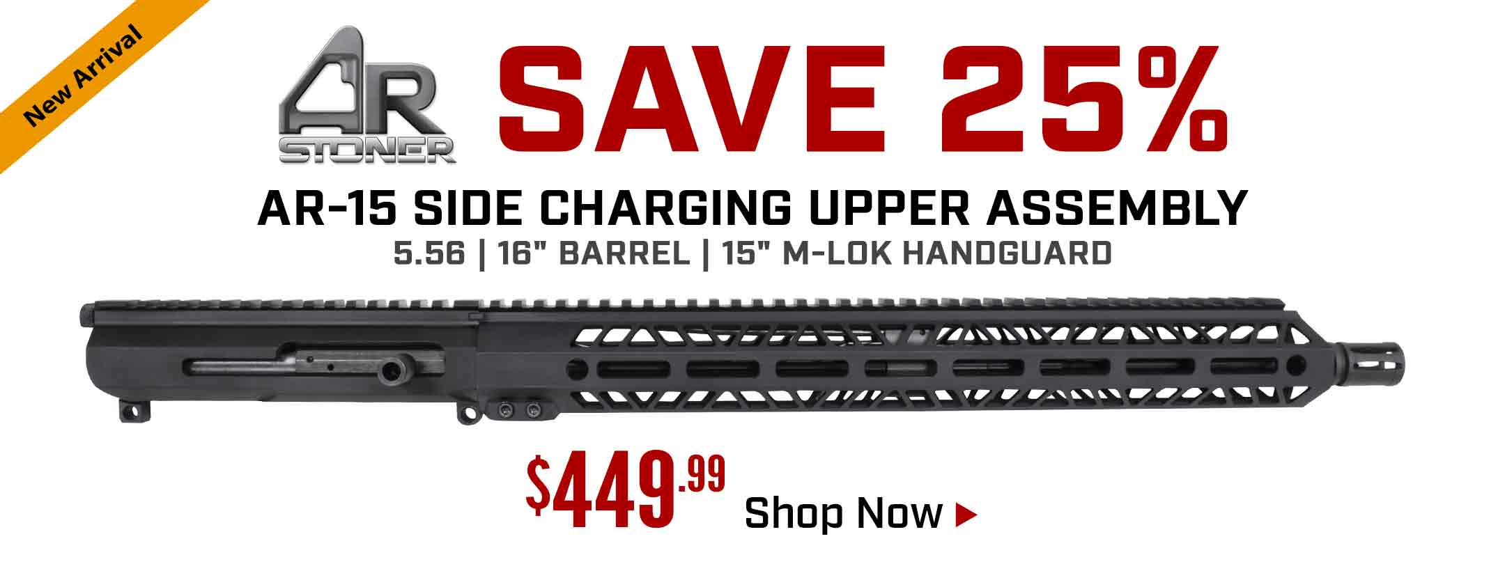 Save $150 on AR-Stoner Side Charging Upper Receiver Assembly with M-Lok Handguard