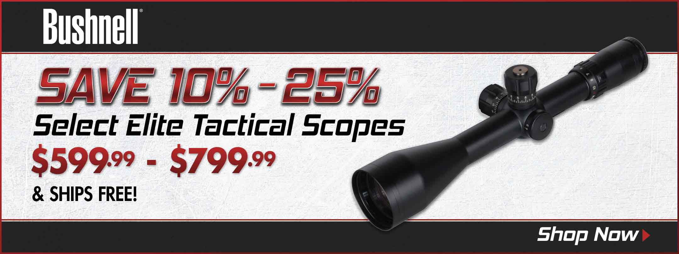 Save on Select Bushnell Elite Tactical Rifle Scopes